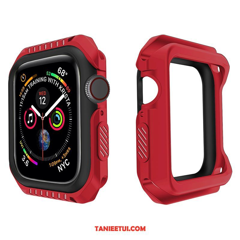 Etui Apple Watch Series 4 Akcesoria Bicolored Granica, Pokrowce Apple Watch Series 4 Silikonowe Sportowe Czerwony