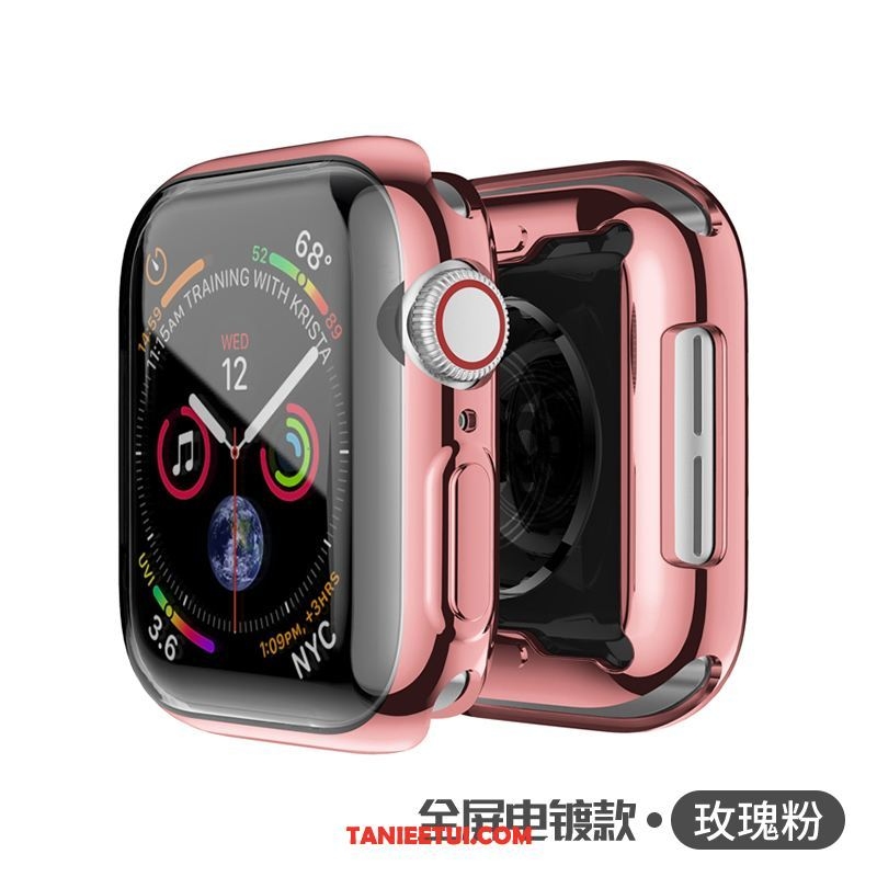 Etui Apple Watch Series 4 All Inclusive Cienkie Silikonowe, Obudowa Apple Watch Series 4 Poszycie Miękki Różowe