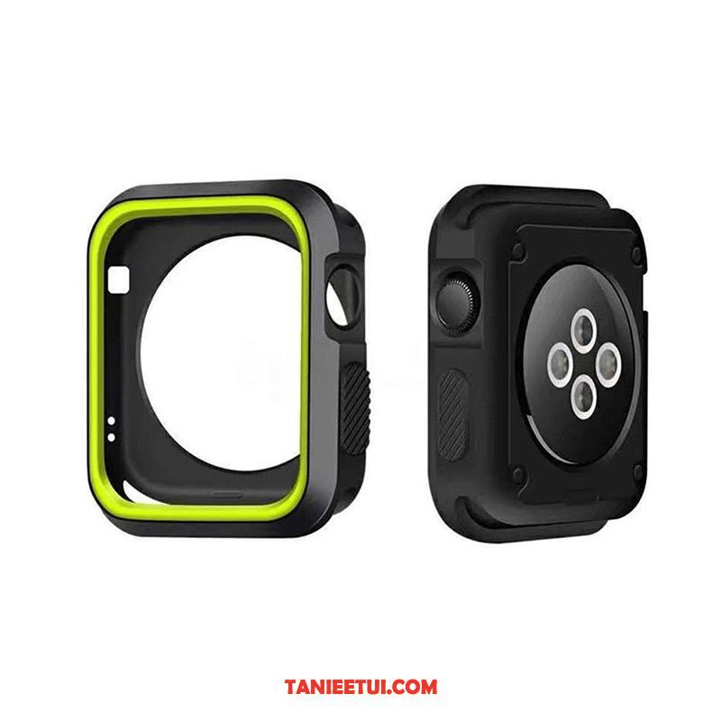 Etui Apple Watch Series 4 Granica Miękki Zielony, Futerał Apple Watch Series 4 Akcesoria Silikonowe Anti-fall