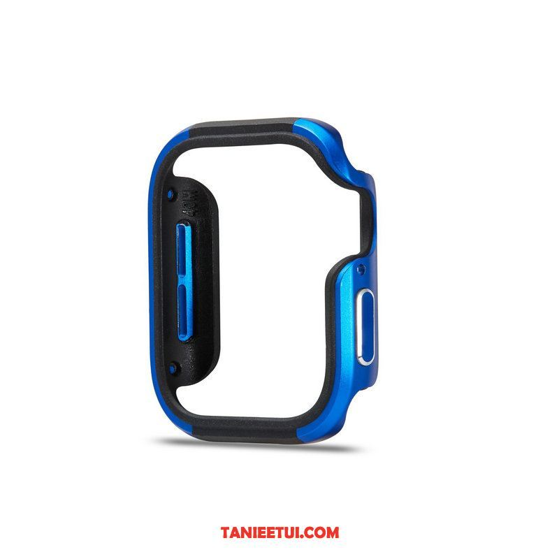 Etui Apple Watch Series 5 Ochraniacz Granica Anti-fall, Futerał Apple Watch Series 5 Niebieski Metal