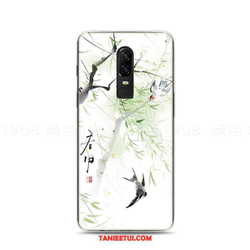 Etui Oneplus 6 Chiński Styl Relief Anti-fall, Futerał Oneplus 6 Miękki All Inclusive Kolor
